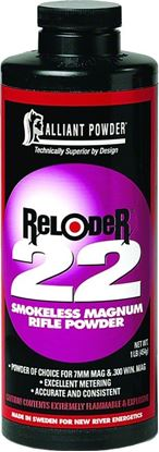 Picture of Alliant RELODER 22 Smokeless Magnum Rifle Powder 1 Lb State Laws Apply