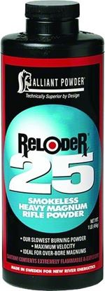 Picture of Alliant RELODER 25 Smokeless Heavy Magnum Rifle Powder 1 Lb State Laws Apply