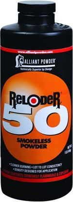 Picture of Alliant RELODER 50 Smokeless 50 Caliber Rifle Powder 1 Lb State Laws Apply