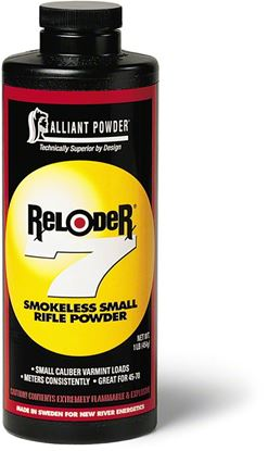 Picture of Alliant RELODER 7 Smokeless Small Bore Rifle Powder 1 Lb State Laws Apply