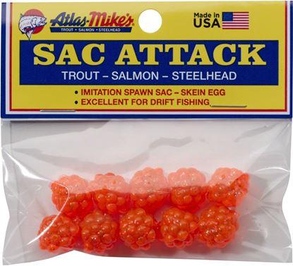 Picture of Atlas-Mike's 41023 Sac Attack Plastic Cluster Eggs, Orange