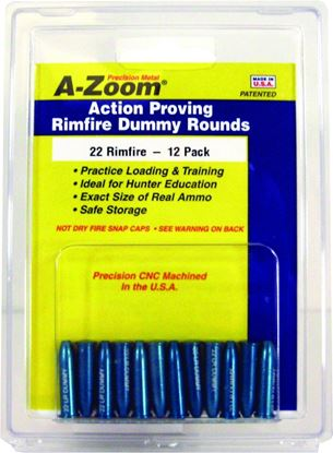 Picture of A-Zoom 12208 Rimfire Snap Cap, 22 Long Rifle 6Pk (089671)