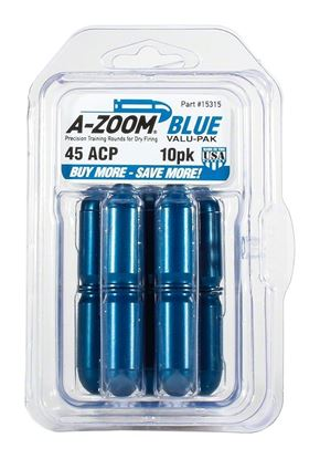 Picture of A-Zoom 15315 45 Auto Snap Cap, Blue, 10Pk