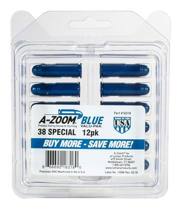 Picture of A-Zoom 16318 38 Spec Snap Cap, Blue, 12Pk