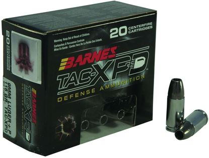 Picture of Barnes 21551 TAC-XPD Pistol Ammo 9MM, TAC-XP HP, 115 Gr, 1125 fps, 20 Rnd, Boxed