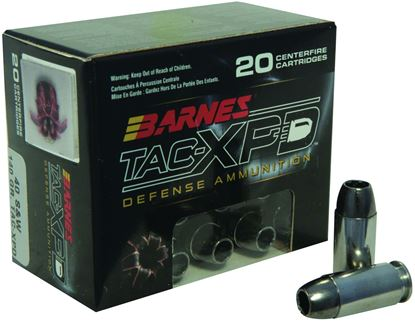 Picture of Barnes 21554 TAC-XPD Pistol Ammo 40 S&W, TAC-XP HP, 140 Gr, 1120 fps, 20 Rnd, Boxed