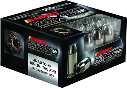 Picture of Barnes 21555 TAC-XPD Pistol Ammo 45 ACP, TAC-XP HP, 185 Gr, 1000 fps, 20 Rnd, Boxed