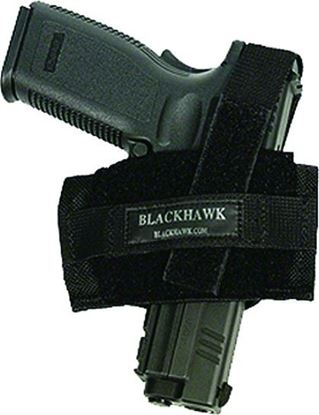 Picture of Blackhawk 40FB02BK Ambidextrous Flat Belt Holster Most Pistols and Sm/Med Revolvers