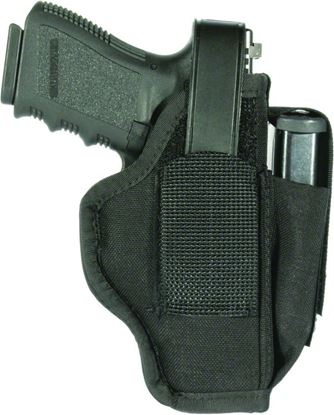 "Picture of Blackhawk 40AM02BK Hip Holster 3-4"" Med/Large Revolvers Ambidextrous Black"