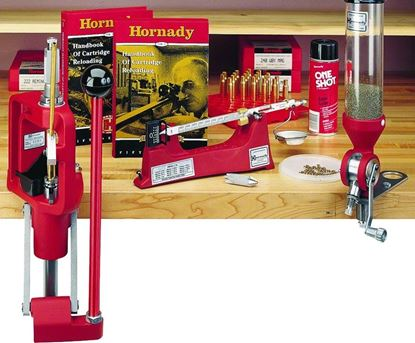 Picture of Hornady 85003 Lock-N-Load Classic Kit. Includes Single Stage Press, Powder Measure, Powder Trickler, Scale, etc..