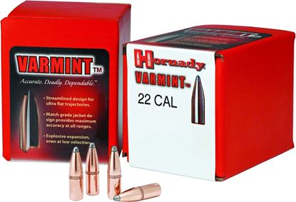 "Picture of Hornady 2265 Traditional Varmint Bullets 22 224"" 55Gr SP 100Rnd"