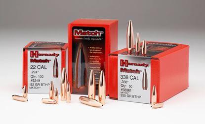 Picture of Hornady 2279 Match Rifle Bullets 22 .224 75Gr HPBT 100Rnd