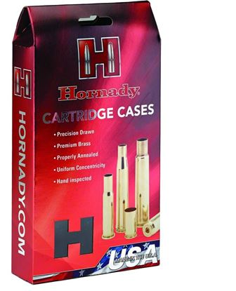 Picture of Hornady 86286 Unprimed Rifle Cartridge Case 264 WIN MAG, 50 Pack
