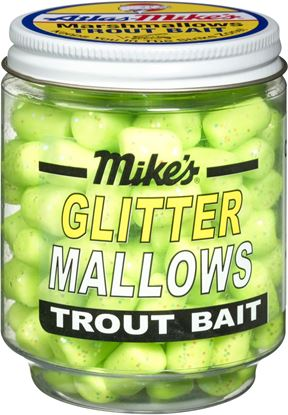 Picture of Atlas Mike's 5210 Glitter Mallows Chartreuse/Cheese 1.5oz Jar