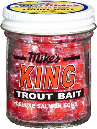 Picture of Atlas Mike's 1206 King Glitter Salmon Egg Red 1.1 oz Jar