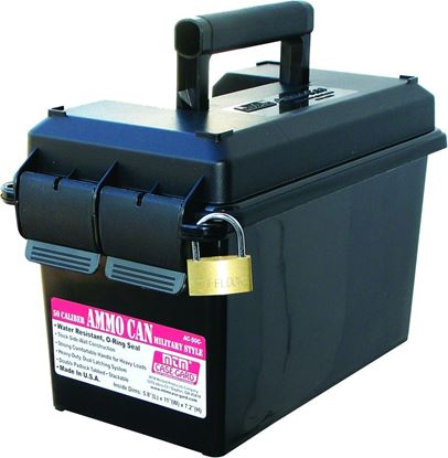 "Picture of MTM AC50C-40 50 Caliber Ammo Can, Polypropylene, 7.4""L x 13.5""W x 8.5""H, Black"
