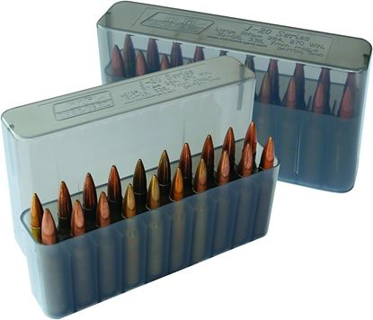 Picture of MTM J-20-L-41 Slip-Top Ammo Box 20 Round 30-06 30-30 270 Win 308, Clear-Smoke