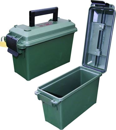 "Picture of MTM AC30T-11 30 Caliber Tall Ammo Can, Polypropylene, 5""L x 11.3""W x 7.2""H, Forest Green"