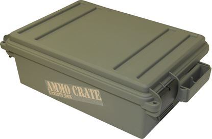 "Picture of MTM ACR4-18 Ammo Crate Utility Box, 17.2"" x 10.7"" x 5.5""H, Up to 65 lbs, Side Handles, O-Ring Seal, Army Green"