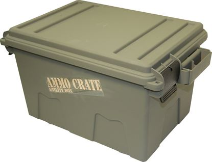 "Picture of MTM ACR7-18 Ammo Crate Utility Box, 17.2""L x 10.7""W x 9.2""H, Up to 65 Lbs, Side Handles, O-Ring Seal, Army Green"