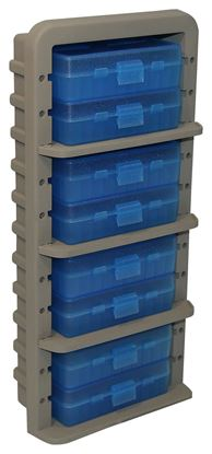 Picture of MTM AR9M Ammo Rack with 9 P50-9M-24 Ammo Boxes, Clear Blue/Dark Earth