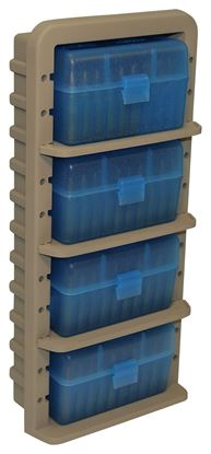 Picture of MTM ARRS Ammo Rack with 4 RS-50-24 Ammo Boxes, Clear Blue/Dark Earth