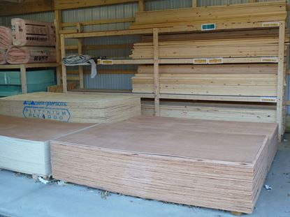 "Picture of 3/4"" (23/32) CDX Plywood 4' x 8'"