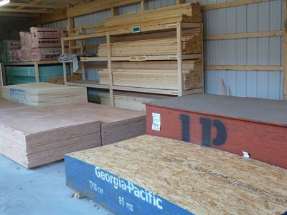 "Picture of 5/8"" (19/32) OSB 4' x 8'"
