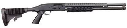 Picture of MOSSBERG 52445 M500 TACT 8SH W/RAIL 12GA