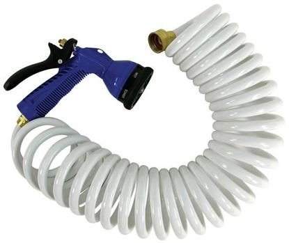 Picture of WHIT COILED HOSE W/NOZ 15' WHT