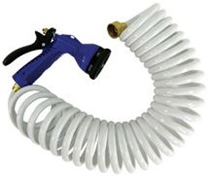 Picture of WHIT COILED HOSE W/NOZ 25' WHT