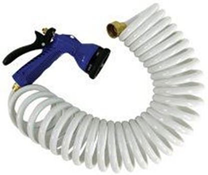 Picture of WHIT COILED HOSE BLUE W/NOZ 25'