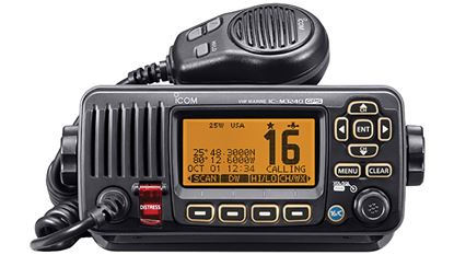 Picture of ICOM VHF TRANSCVR W/GPS BLK