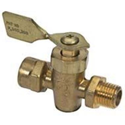 Picture of MOEL 1/4 FNTP BRASS 4-WAY VALVE