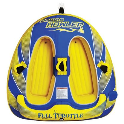 """Picture of FTHR TUBE DBL HOWLER 76"""" BL/YEL"""