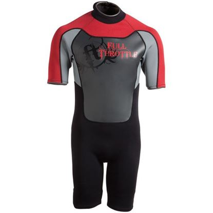 Picture of FTHR WETSUIT ADT SHTY RED/GRY S