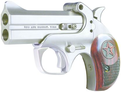 Picture of Bond Arms C2K 45/410 Century 2000 Break Pistol 45 LC, 3.5 in, Wood Grp, 2 Rnd, Blade Front & Fixed Rear, Satin S/S Frame
