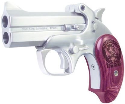 Picture of Bond Arms BASS45/410 Snake Slayer Single Action Pistol 45 LC, 3.5 in, Extended Wood Grp, 2 Rnd, Satin S/S Frame