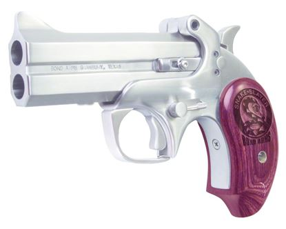 Picture of Bond Arms BASS IV 45/410 Snake Slayer IV Break Pistol 45 LC, 4.25 in, Wood Grp, 2 Rnd, Satin S/S Frame