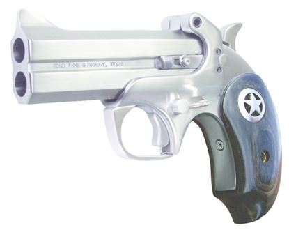 Picture of Bond Arms Bond Rngr 45/410 Ranger II Break Pistol 45 LC, 4.25 in, Extended Black Ash Star Grp, 2 Rnd, S/S Frame