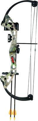 Picture of Bear Archery AYS300CR Brave Camo w/Biscuit Youth Bow