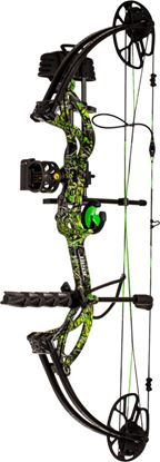Picture of Bear Archery AV83B21047R Cruzer G2 RTH compound bow package RH 5-70lbs Moonshine Toxic