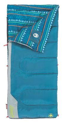 Picture of Coleman 2000025290 Kids Sleeping Bag Rectangular 50, blue