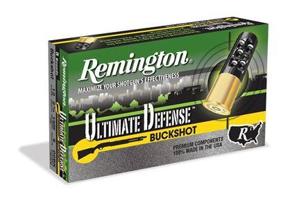 "Picture of Remington 12B008RRHD Ultimate Defense Buckshot 12 GA 2-3/4"" 8Pellet 00B 1200FPS Reduced Recoil"