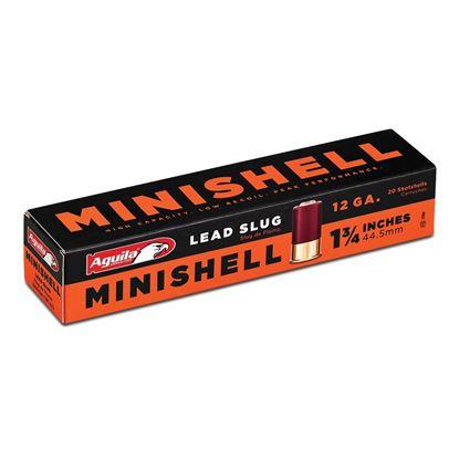 """Picture of Aguila 1C128974 Minishell Shotgun Slug 12 Ga, 1-3/4"""", 7/8 oz Slug, 1300 fps, 20 Rnd Box"""