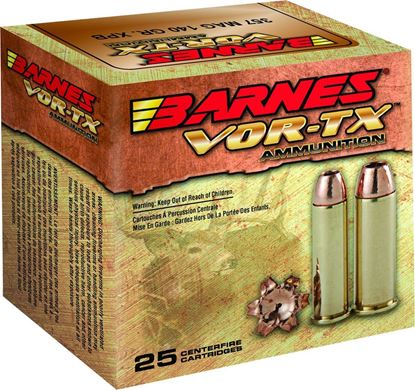 Picture of Barnes 21545 VOR-TX Handgun Ammo 44 MAG, XPB HP, 225 Grains, 1235 fps, 20, Boxed