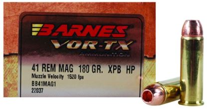 Picture of Barnes 22037 VOR-TX Handgun Ammo 41 MAG, 180 Gr, 1520 fps, 20 Rnd, Boxed