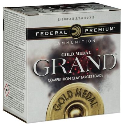 "Picture of Federal GMT117-7.5 Gold Medal Grand Paper Shotshell 12 GA 2 3/4"" 2 3/4DE 1 1/8oz 7.5 25 Rnd Per Box"