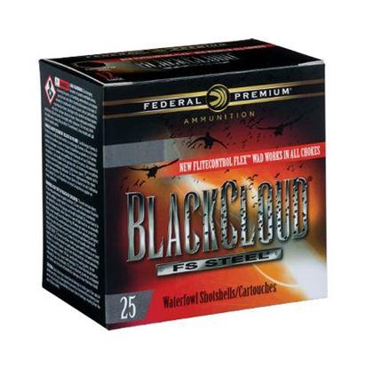 """Picture of Federal PWBX134-3 Black Cloud Waterfowl Shotshell 12 GA 3 1/2"""" 1 1/2oz 3, 25 Rnd per Box"""