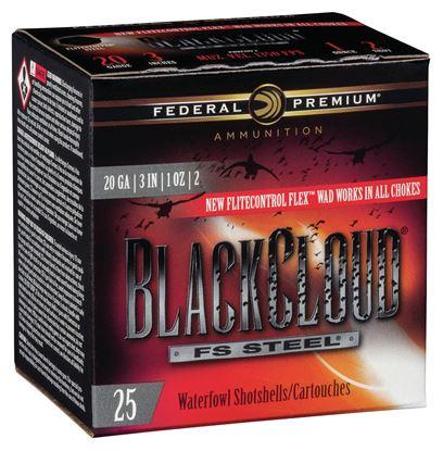 """Picture of Federal PWBX209-1 Black Cloud Waterfowl Shotshell 20 GA 3"""" 1oz 1, 25 Rnd per Box"""